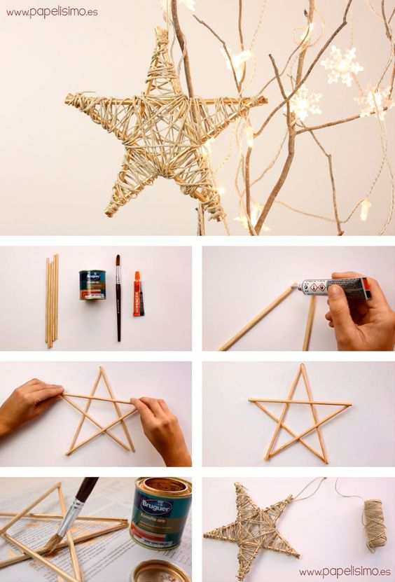 Christmas ornaments made of string (15)