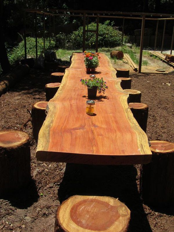 DIY projects for the garden made of wood (3)