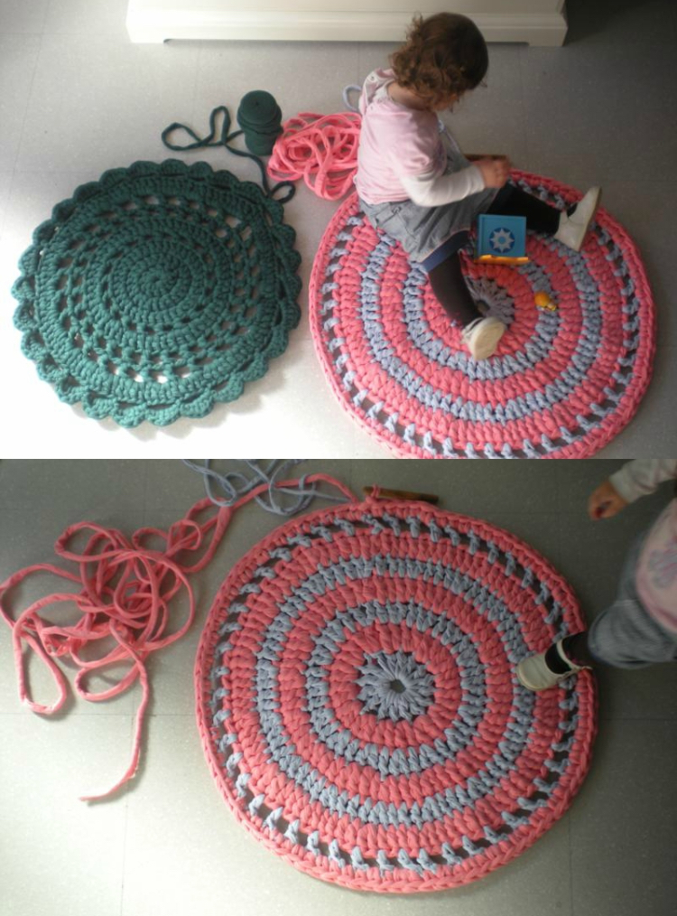 knitted decoration with thick yarns (35)