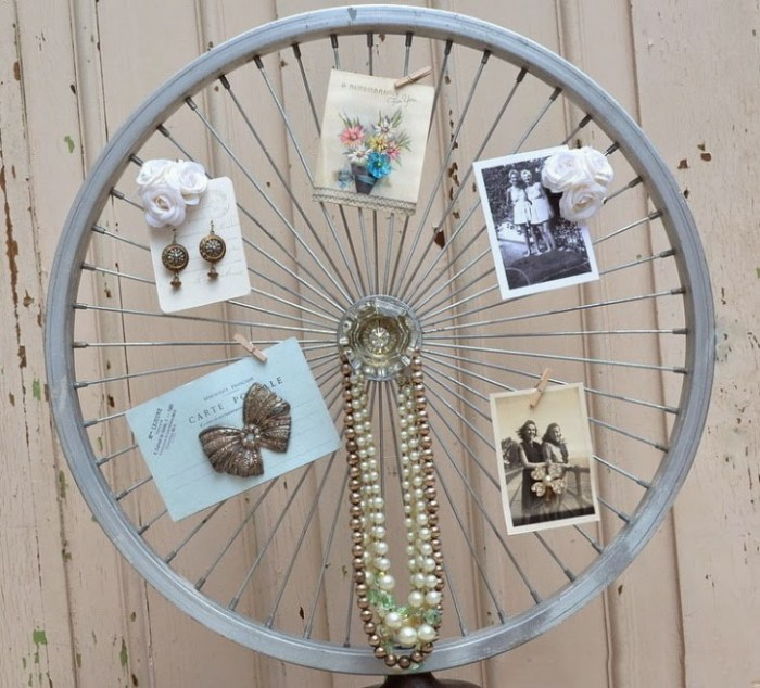 DIY by recycling bicycle wheels11
