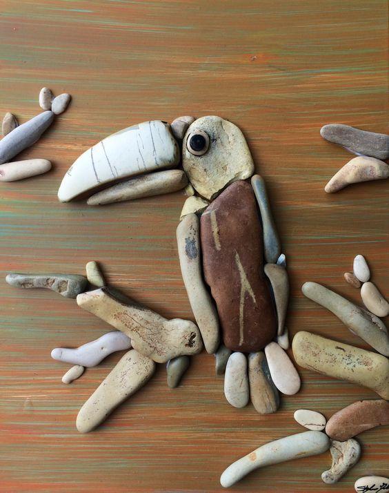 Pebble art ideas8