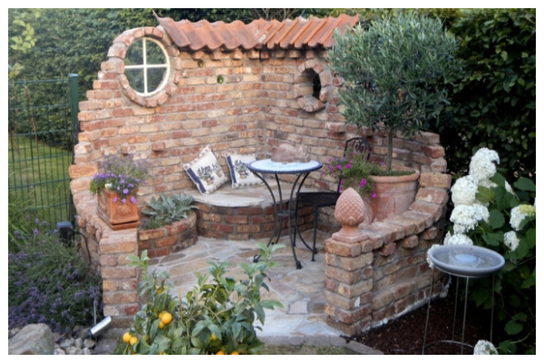 ideas with stone gazebo without a roof1