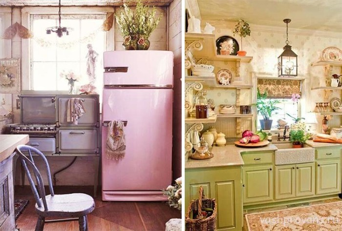 small kitchen in the style of Provence24
