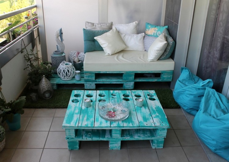 Balcony pallet Sofa ideas7