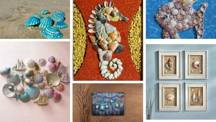 43 Crafts with shells, inspirational ideas for creative minds