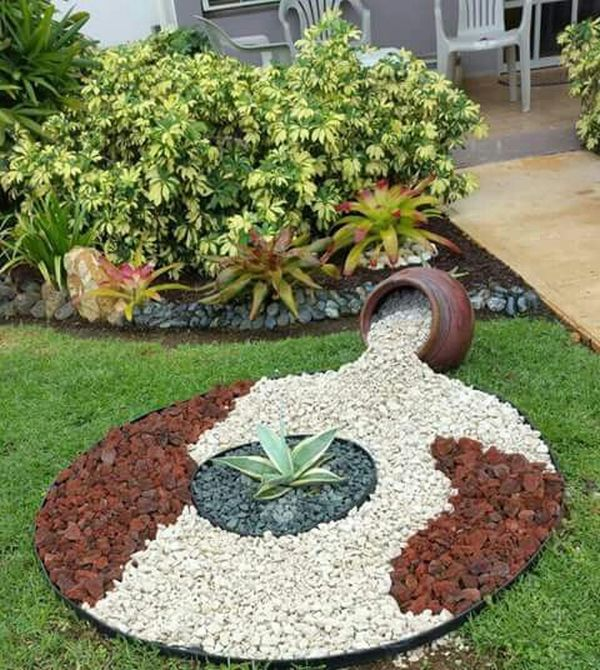 15 Incredible Front Yard Rock Garden Landscaping Ideas You: Garden Design With Decorative Stones