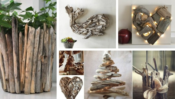 Driftwood craft ideas: unique pieces created with this
