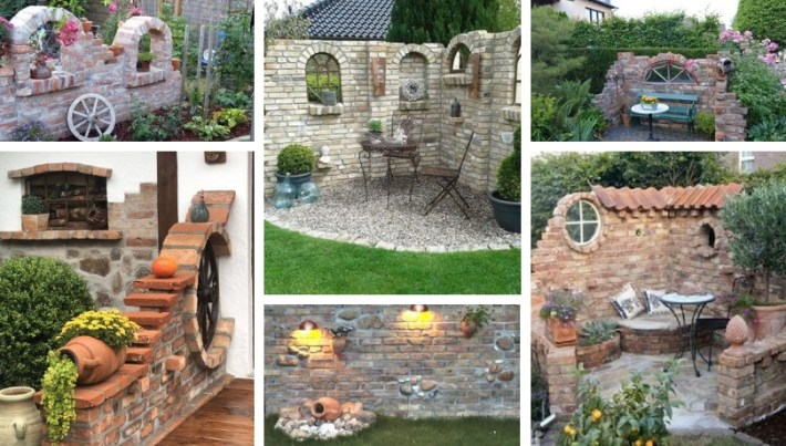 Exterior Diy Red Brick Decorations Ideas For A Dream Garden My Desired Home
