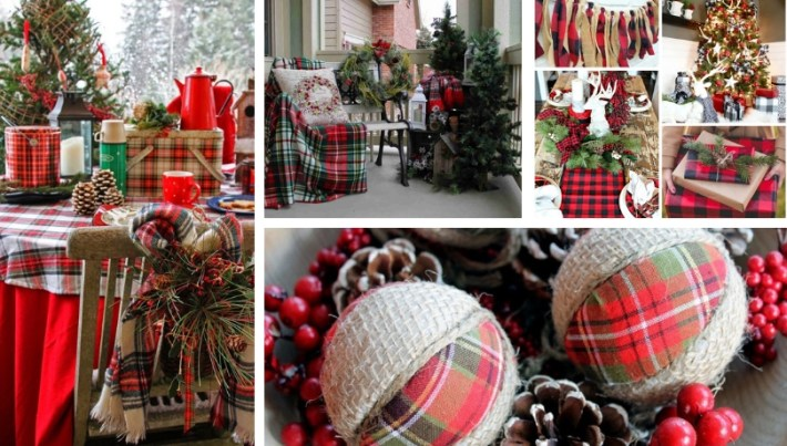 Plaid patterns a classic rustic beauty for Christmas decoration