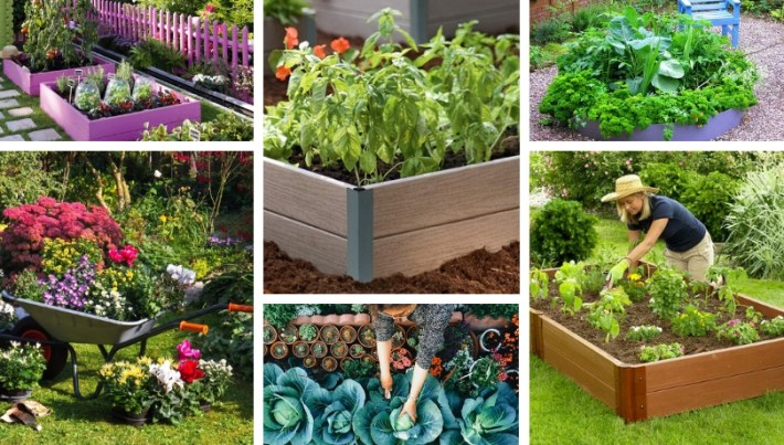 DIY garden beds: 43 interesting ideas for country design ... on