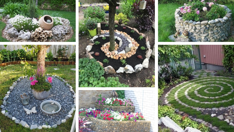 30 Wonderful Diy Ideas With Stone Flower Beds My Desired Home