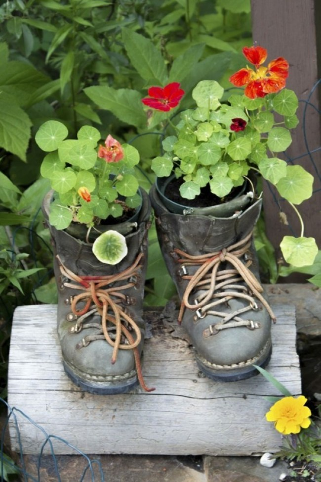 Making unusual DIY garden decoration yourself - 40 ...