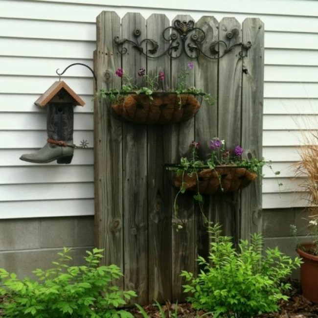 Making unusual DIY garden decoration yourself - 40 ...