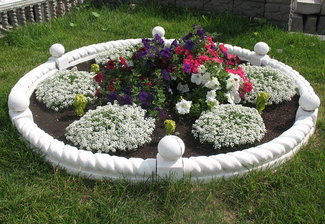 Round flower, herb, vegetable beds: 40 simple ideas for ...