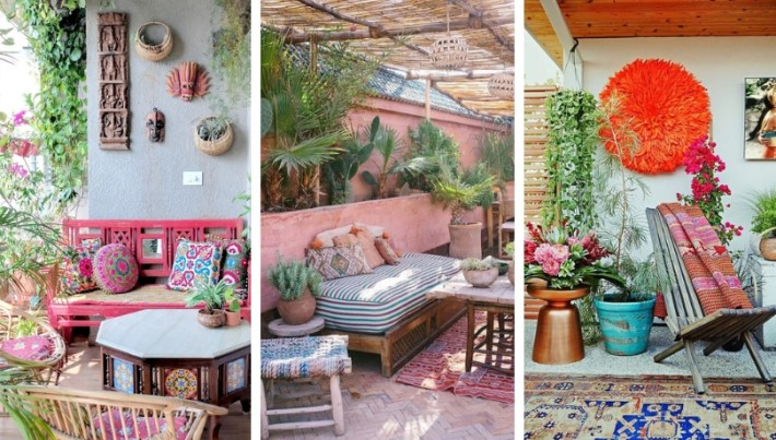 25 Trendy and intense Boho yards and terraces ideas full of energy