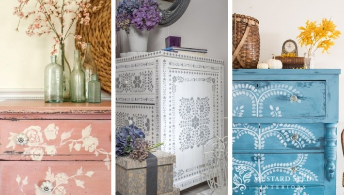 Amazing DIY ideas with stencils painted Furnitures