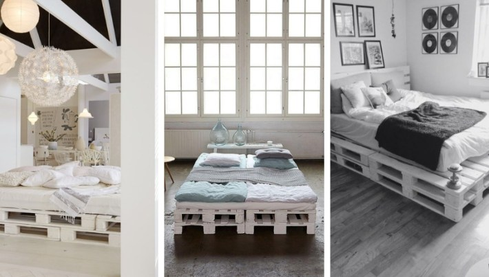 Cool DIY ideas for white pallet bed frames