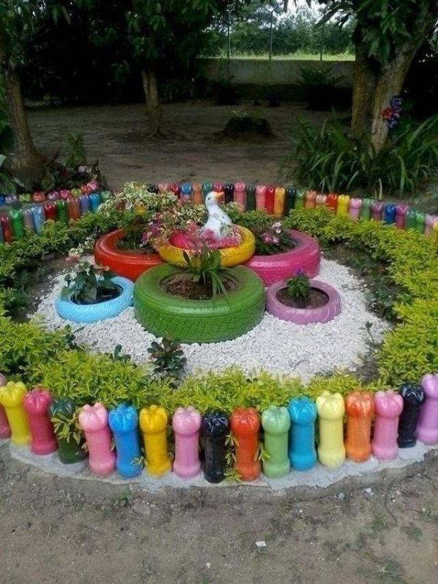 DIY craft ideas for the most wonderful flower garden 8