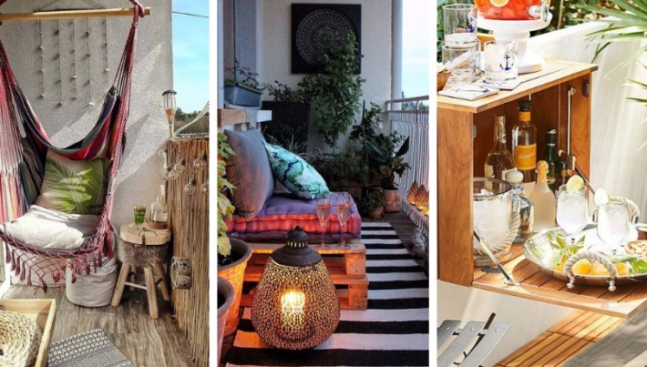 Get ready for good weather: Practical Ideas to save space on the balcony