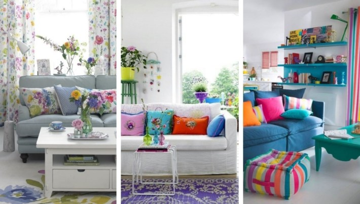 32 Colorful living room decor ideas for more summer charm at home