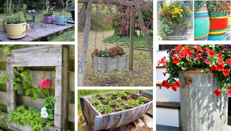 40+ Special DIY Pots – flower boxes for your garden