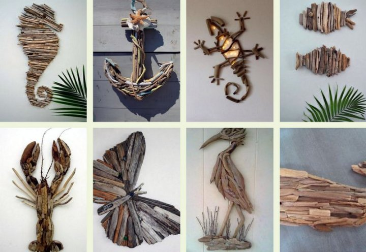 How to make cool DIY wall decorations with driftwood