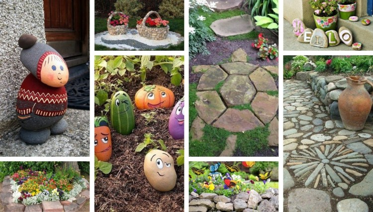 40 Amazing landscaping and DIY garden decorations with natural stones