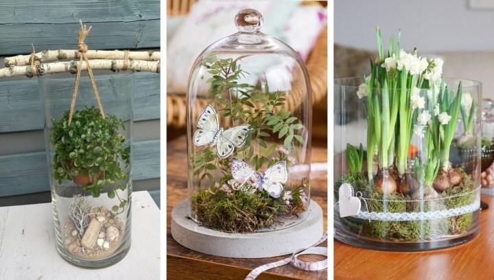 28 Wonderful DIY spring decoration ideas with glass vases
