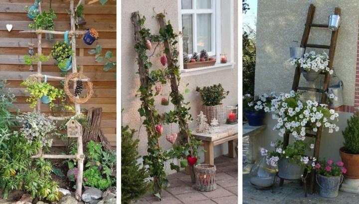 22 Amazing spring decoration ideas with an old ladder