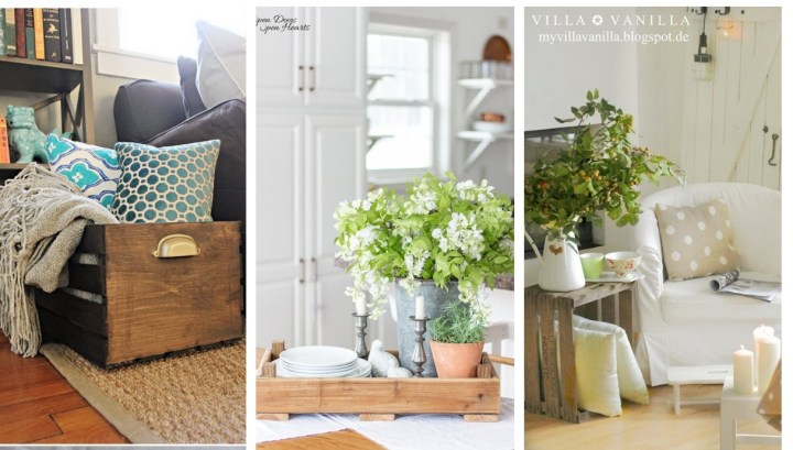 Decorating with Wooden Crates: 42 DIY Ideas  for clever and easy inspiration