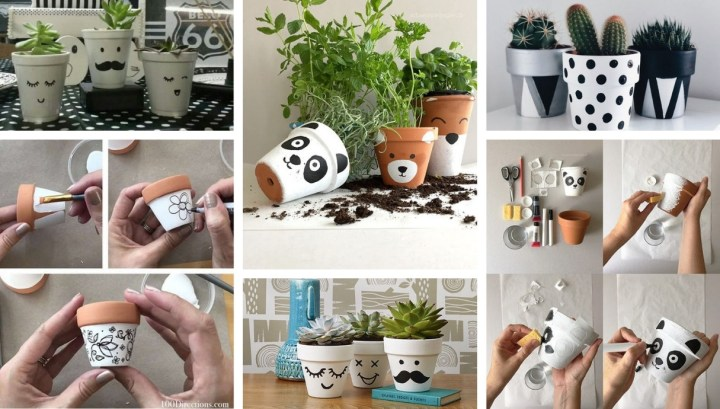 Transform your ordinary pots fantastically and fun with these 30 DIY inspiration ideas