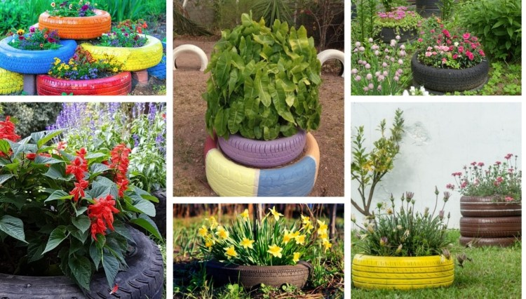 35 DIY tire garden ideas to have a flowered and sustainable corner