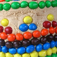 Peanut M&M Birthday Cake
