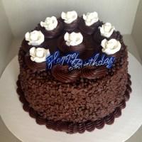 Double Chocolate Chip Birthday Cake