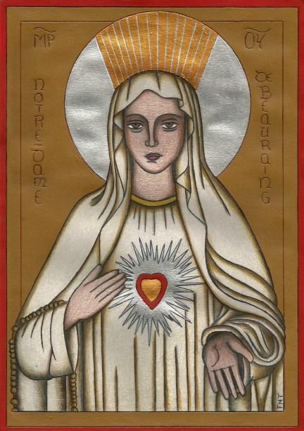 6. Icon Notre Dame au CŒur D'or Beauraing Vierge Marie