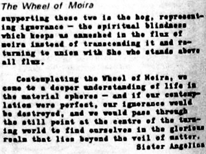 The Wheel of Moira TCA Issue 11, Rosea, 121 after Lourdes 5081