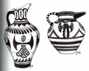 Labrys jars 1500BC Knossos