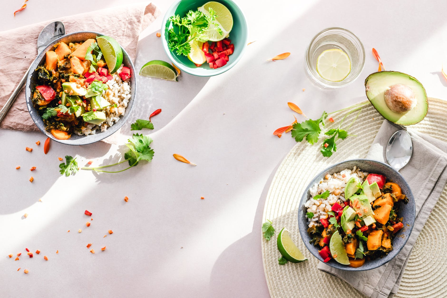 photo of vegetable salad in bowls