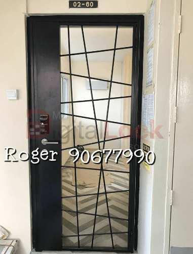 11. Single Leaf Modern Design HDB Mild Steel Gate