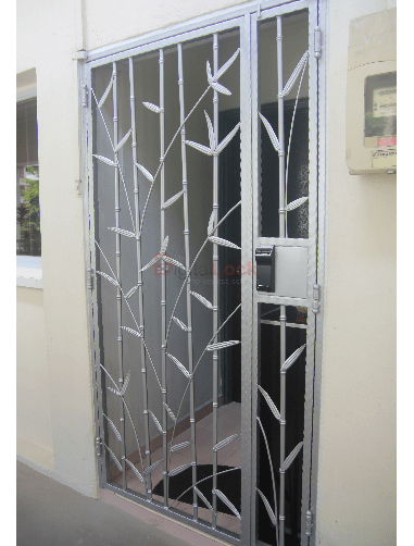 6. Bamboo Silver Wrought Iron HDB Gate 1.0 copy