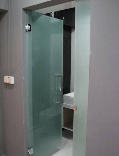 bto hdb frosted glass swing door with 10mm tempered glass at glass rh mydigitallock2018 com sg glass door bathroom philippines glass door bathroom price