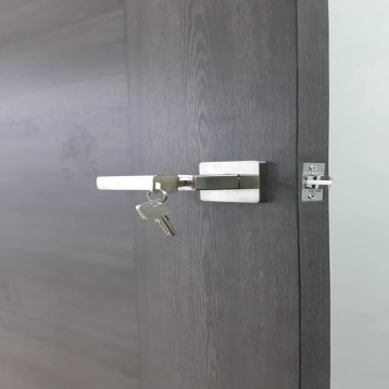 NIKA Japan 6371 Silver Bedroom Lever Lock