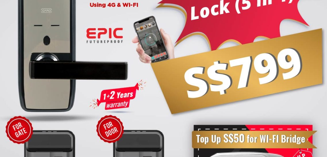 NEW EPIC DIGITAL LOCK release in 2019, Unlock your HDB Fire rated main door and gate using Smartphone Today in Singapore by MY Digital Lock
