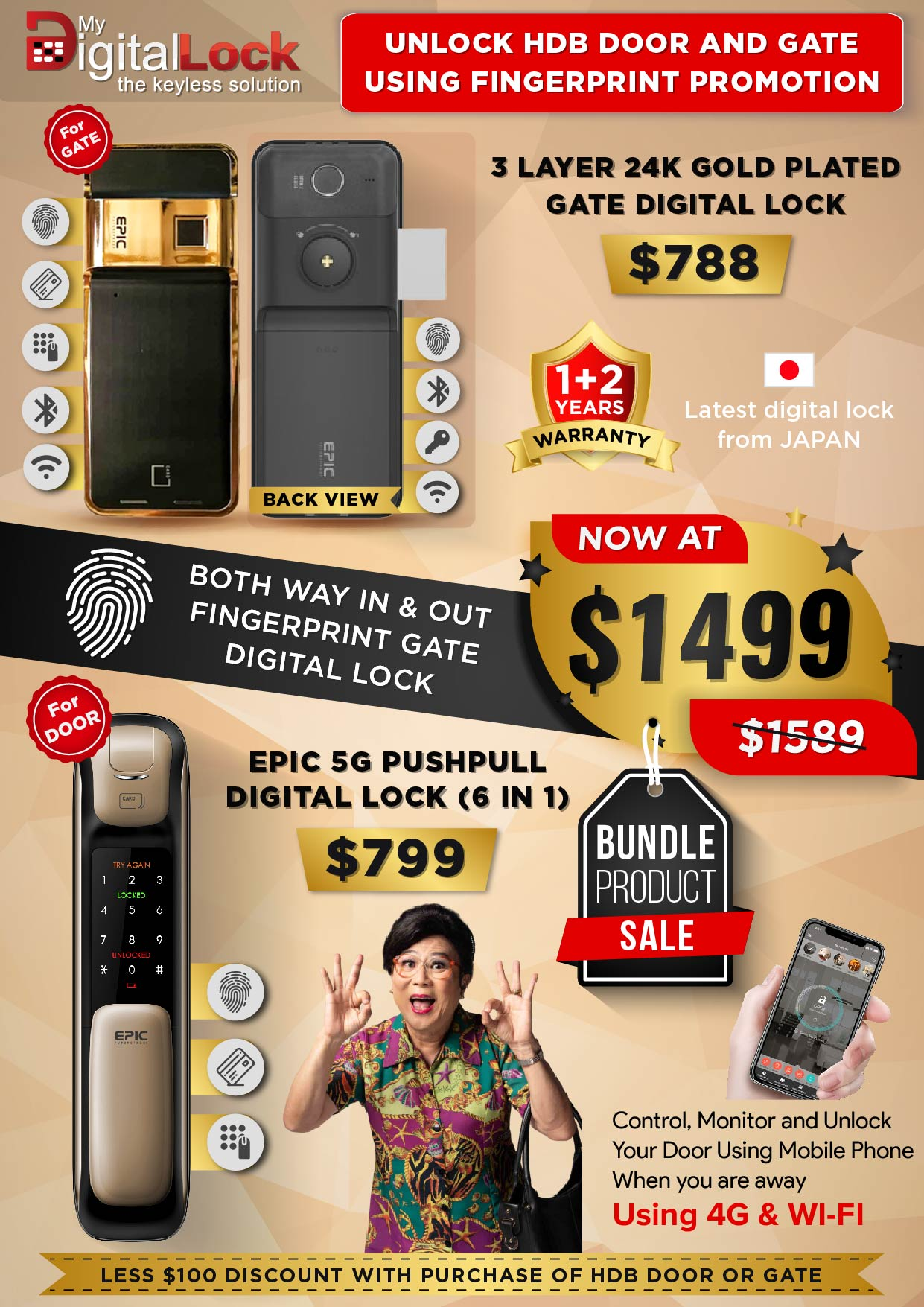 24K-Gold-Plate-Gate-and-5G-Push-Pull-Digital-Lock-Promotion-13