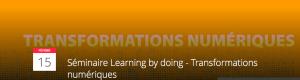 #TECHNO - Séminaire Learning by doing @ Paris | Île-de-France | France
