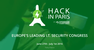 #IT - Hack In Paris - By SysDream @ Maison de la Chimie  | Paris | Île-de-France | France