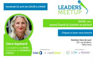 #ENTREPRENARIAT - RAISE, ou quand David et Goliath se parlent - By Nextdoor @ Nextdoor Gare de Lyon  | Paris | Île-de-France | France