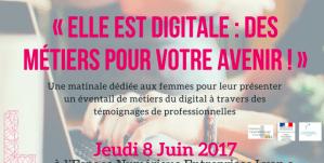 #ElleEstDigitale -  Elle est digitale  : des métiers pour votre avenir - By L Digital, Collectif Auvergne Rhône Alpes @ (Espace Numérique Entreprises) - | Lyon | Auvergne-Rhône-Alpes | France