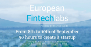 #STARTUPS - European Fintech Labs 2017 - By Startup Inside @ Wework | Paris | Île-de-France | France