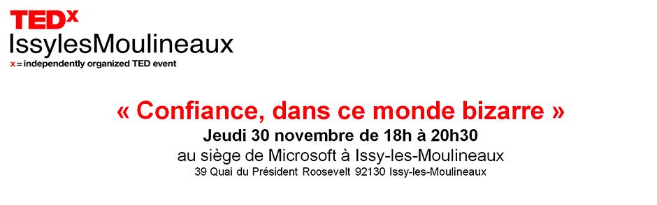 TEDx Issy Les Moulineaux 30 Novembre 2017